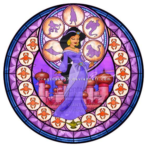 Princess Jasmine - Kingdom Hearts Stain Glass by ~reginaac57 on deviantART