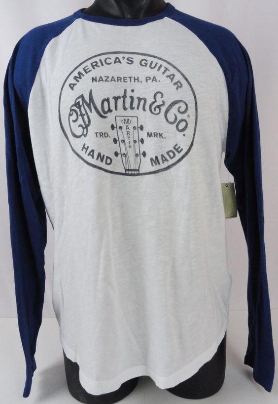 NWT Mens L Lucky Brand T-Shirt C. F. Martin & Co Americas Guitar L/S Round…