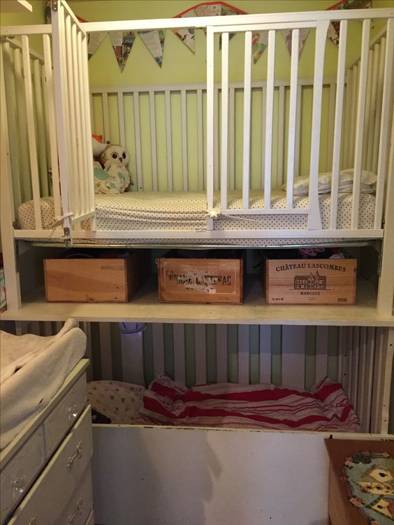 Bunk Crib Toddler Bed In A Small Space With Option To