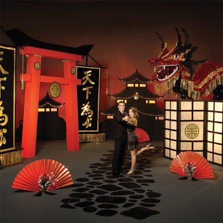 yours beneath the heavens complete theme asian chinese dragon prom theme backdrops year of the. Black Bedroom Furniture Sets. Home Design Ideas