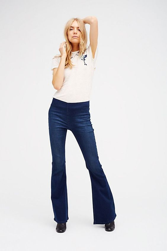 Slide View 2: Penny Pull-On Flare Jeans