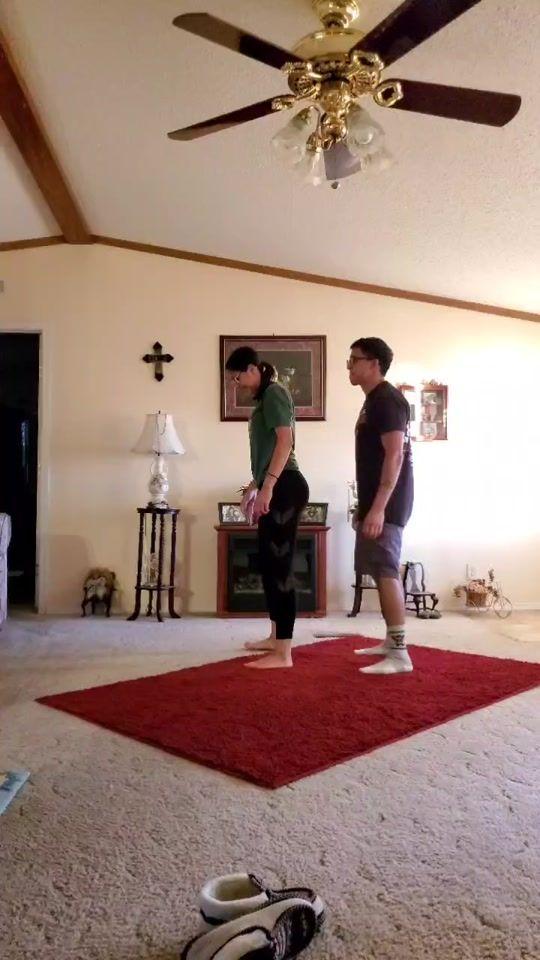 Trending Videos On Tiktok In 2020 Couples Yoga Challenge Trending Videos Yoga Challenge