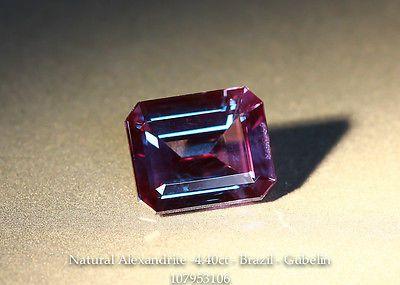 Natural Brazil Alexandrite - Octagon 4.40ct - Gubelin Certified - Clean Gem SOLD for over $140,000