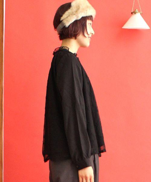 AMBIDEX Store ○ チュール チューリップ 刺繍 ブラウス(F クロ): PAR ICI