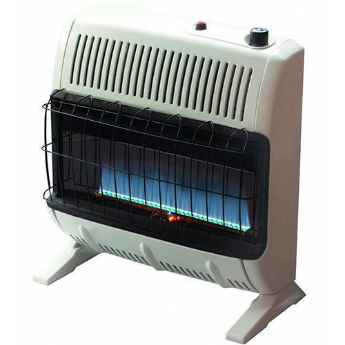 Mr Heater 30 000 Btu Propane Blue Flame Vent Free Heater Vf30kbluelp Natural Gas Wall Heater Propane Heater Natural Gas Garage Heater