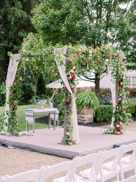 An Elegant Garden Wedding at the Bride's Family Home That Celebrates COLOR