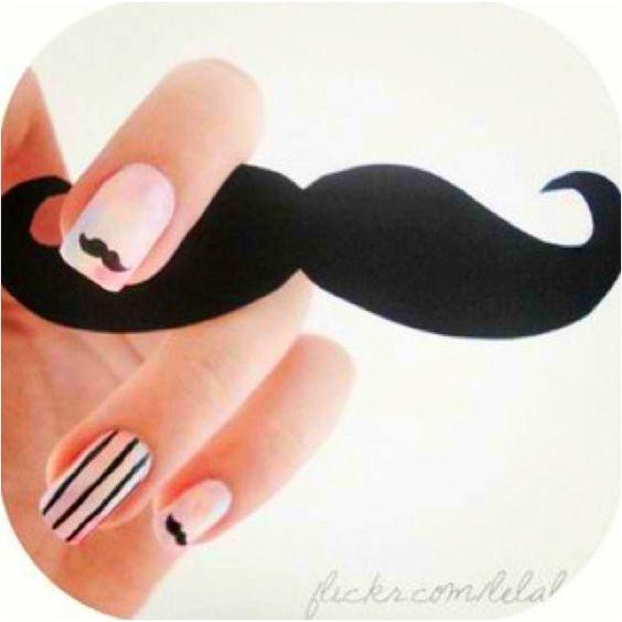 cute mustache nails :)