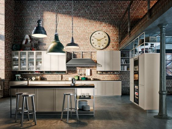 Cucina stile industriale Frame Snaidero