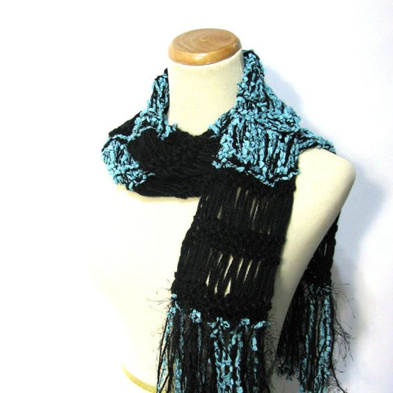 Christmas In July Sale Hand Knit Scarf  by ArlenesBoutique on Etsy, $35.00