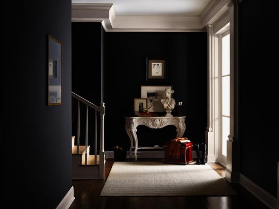 hgtv home by sherwin williams traditional twist tricorn black sw 6258 incredible white. Black Bedroom Furniture Sets. Home Design Ideas