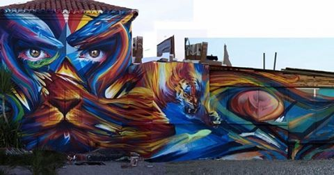 Big wall action from 400kunstler and PAM in #Spain. (http://globalstreetart.com/400kunstler)