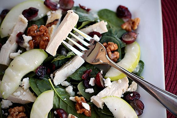 apple chicken and cranberry salad copy