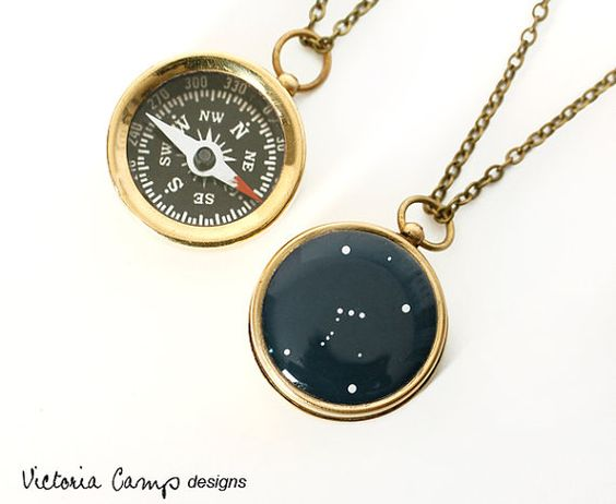 Orion Constellation Necklace with Small by VictoriaCampDesigns, $32.00