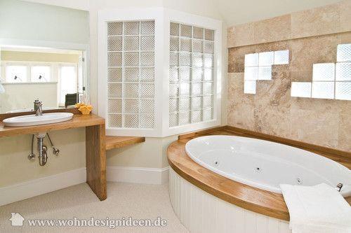 Glasbausteine badezimmer ~ Foto 447: glasbausteine natürliches holz und eine idee haben