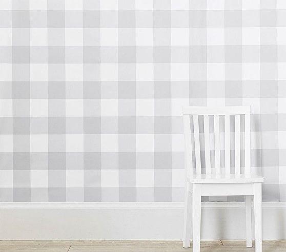 Buffalo Check Peel Stick Wallpaper Stick On Wallpaper Kids Room Wallpaper Room Wallpaper