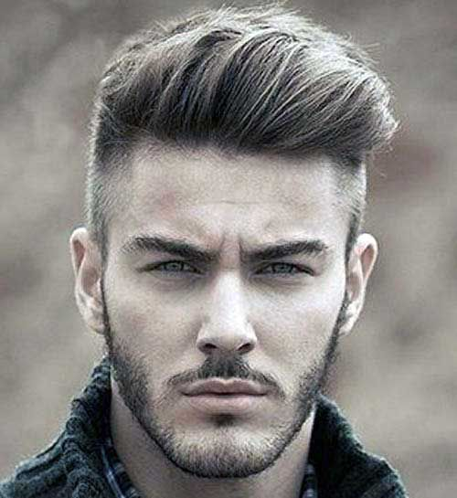 cabelo undercut de topetes
