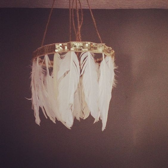 Diy Feather Lampshade Chandelier From Junk Gypsies Season 2 On Great American Country Dream Home Pinterest Chandeliers And