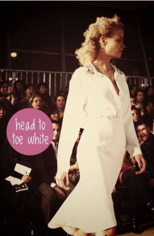 favorite fall trend- head to toe white as seen at cynthia rowley