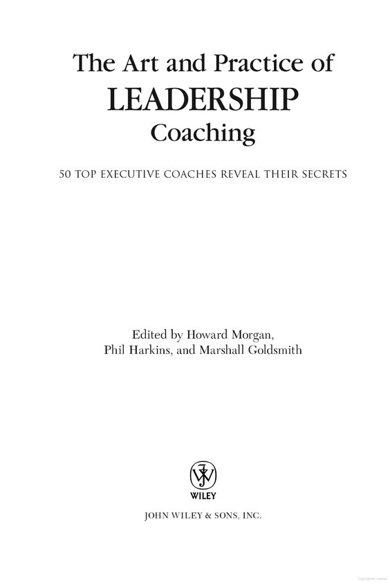 The Art and Practice of Leadership Coaching - books to read (preview version)