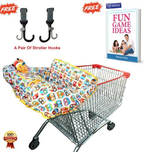 Amazon.com : Shopping Cart Cover for Baby & Toddler Used in High Chair As Well, Easy to Fold, Machine Washable - Free Ebook Included! : Baby