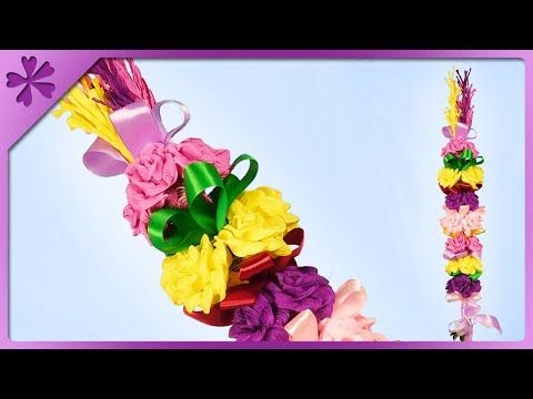 Diy How To Make Easter Palm Decoration Out Of Tissue Paper Eng Subtitles Speed Up 454 Youtube Art Drawings For Kids Easter Easter Spring