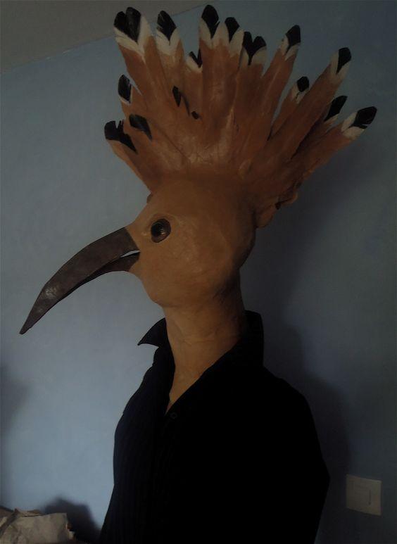 autres têtes d'OISEAUX | les sculptures en papier
