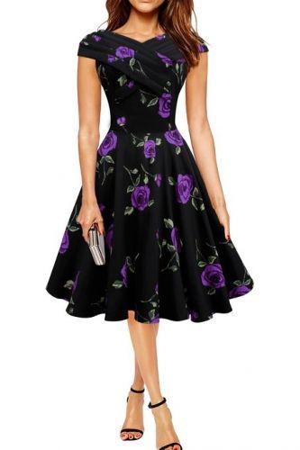 Purple Vintage Cross Over 1950s Dress  Clothing &amp Dresses ...