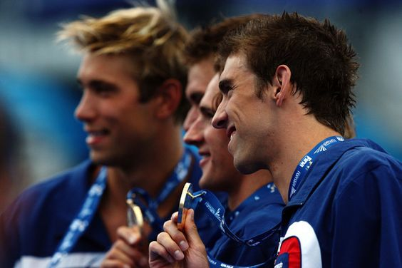 Phelps, Lochte, Adrian and Grevers