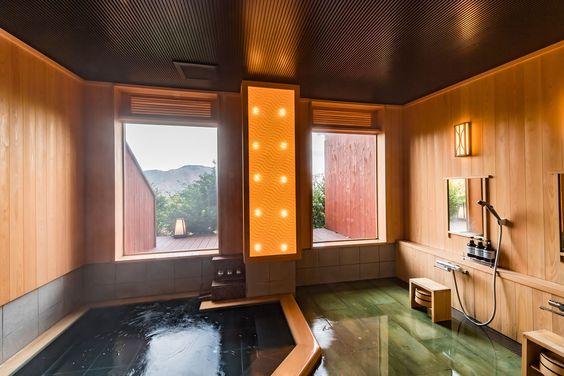 弓庵のお風呂 - 箱根 温泉露天風呂付客室の旅館 弓庵(きゅうあん)