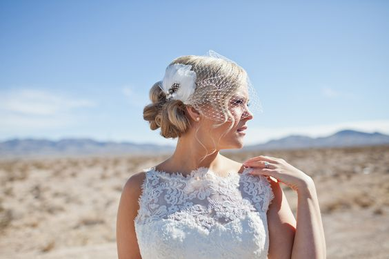 birdcage veil by Pomp and Plumage, Hair and makeup by Your Beauty Call