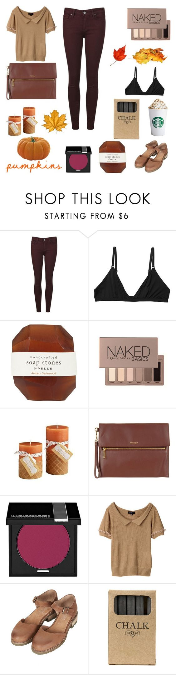 """""""and now i'm falling for you"""" by a-sparkly-girl ❤ liked on Polyvore featuring Paige Denim, Monki, Pelle, Urban Decay, Pier 1 Imports, Modalu, MAKE UP FOR EVER, Topshop and Jayson Home"""