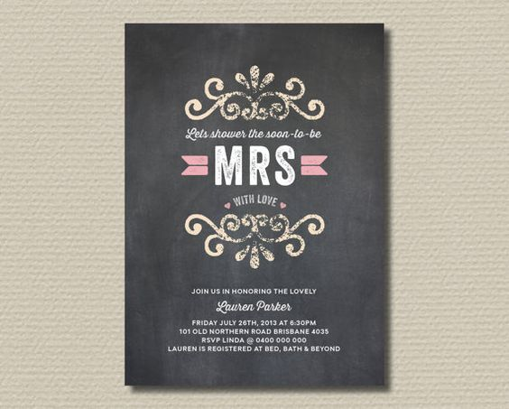 Printable Bridal Shower Invitation  Shower the by rosiedaydesign, $18.00