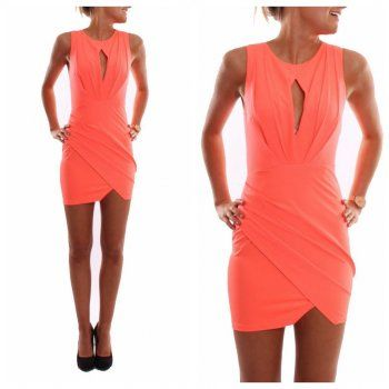 PLUS SIZE ORANGE MINI VESTIDOS SUMMER NEW WOMEN SEXY NIGHT CLUB DRESS FASHION BODYCON HOLLOW OUT PARTY DRESSES