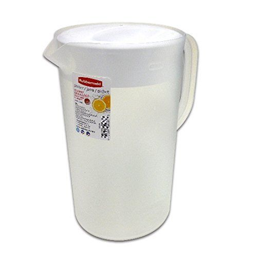 Rubbermaid Clear 1 Gallon Classic Pitcher With White Lid Rubbermaid Glass Beverage Dispenser Pitcher