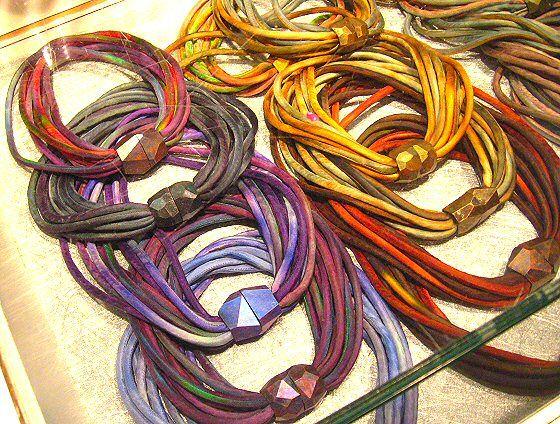 susan sanders fiber jewelry jewels from textiles