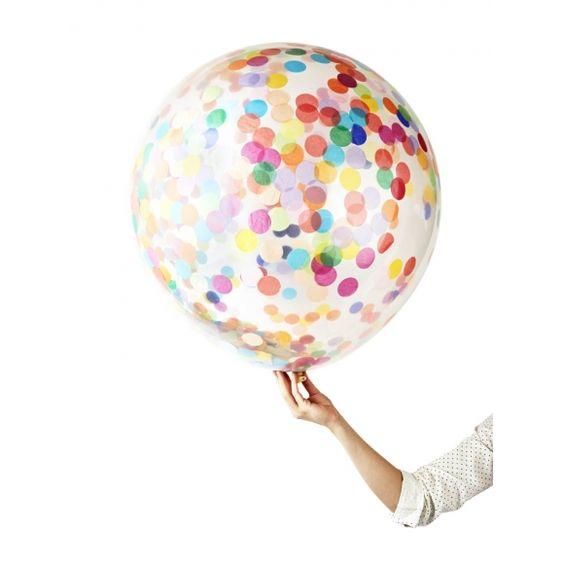 Jumbo confetti balloons (pack of 2)