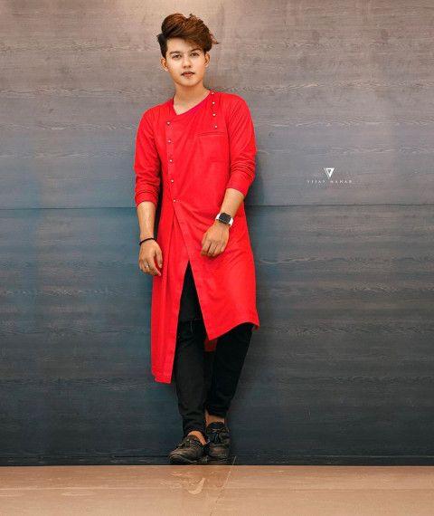 Riyaz Aly Red Kurta Riyaz 14 Cute Boy Photo Download Cute Boy Photo Photoshoot Pose Boy Cute Boys Images