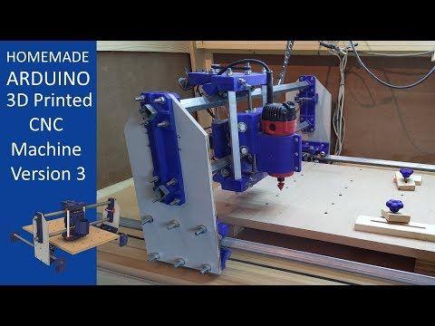 3d Printed Cnc Machine V3 Youtube Cnc Machine Cnc Diy Cnc