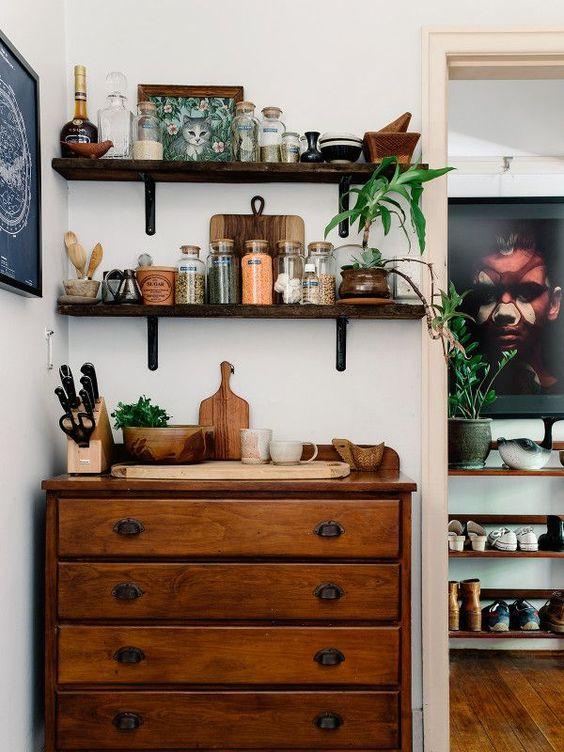 Antique kitchen drawer chest