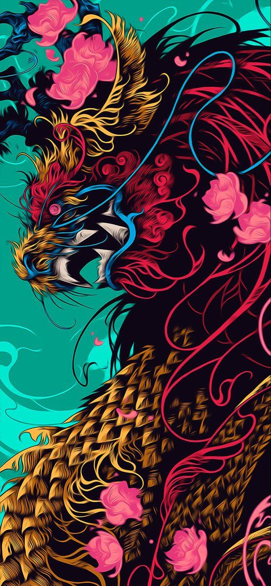 Pin Oleh Frank Di Iphone 12 Pro Max Wallpaper Wallpaper Seni Wallpaper Anime Ilustrasi Naga