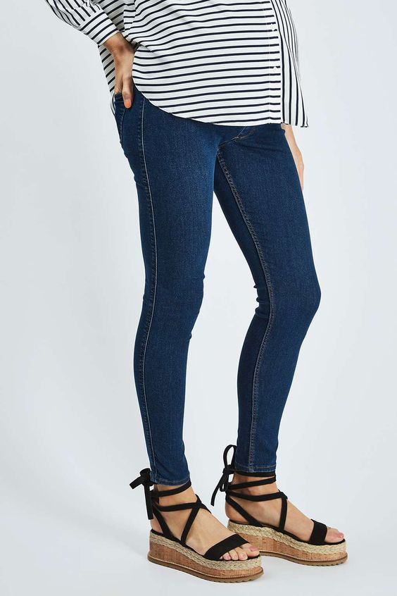 MATERNITY Over-The-Bump Blue Joni Jeans