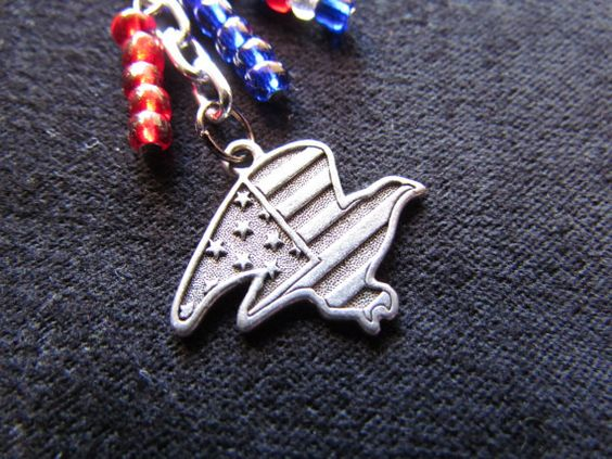 $10 Patriotic Red, white & Blue Eagle Keychain