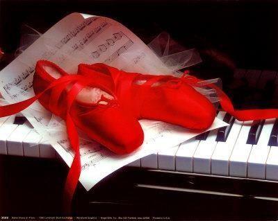 Zapatillas de ballet rojas
