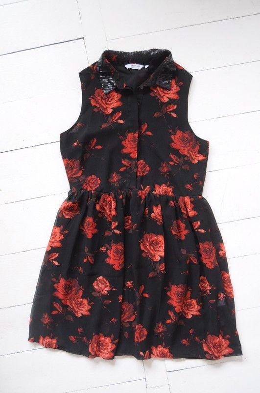 New Look Sukienka Czarna Kwiaty R 36 Vinted Pl Dresses
