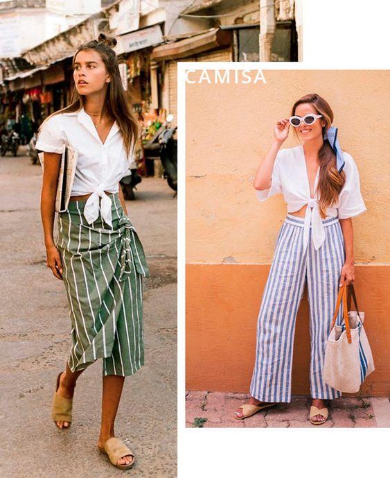 moda tendência nózinho e french top