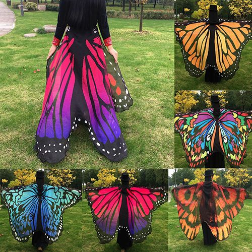 Fashion Women/'s Soft Long Butterfly Wing Cape Scarf Large Wrap Shawl Scarves