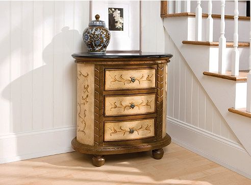 Our Middlebury Collection has many wonderful selections like this side table in a foyer.