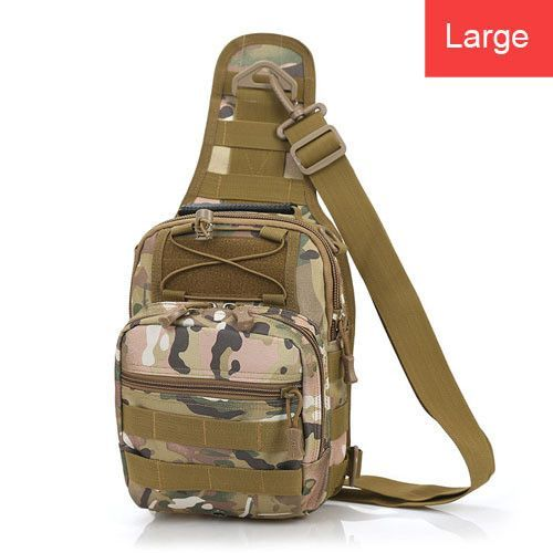 Men Messenger Bags Chest Pack Multifunctional Moll Tactical Shoulder Bag Crossbody Camping Equipment Outdoor Sport