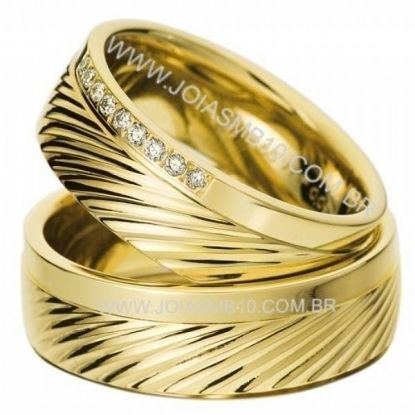 Alianças de Ouro Anatômicas Personalizada