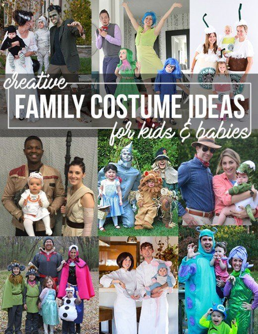 Creative Diy Costume Ideas For Mom Dad And Baby Themed Family Costumes Cute Baby Halloween Costumes Family Costumes Toddler Halloween Costumes